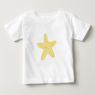 Stern-Entwurf für BabysStarfishgelb Baby T-shirt