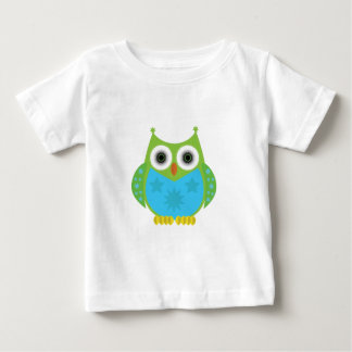 Stern-Eule - grün-blau Baby T-shirt