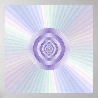 Stern-Explosion konzentrische Ring-Plakat Poster