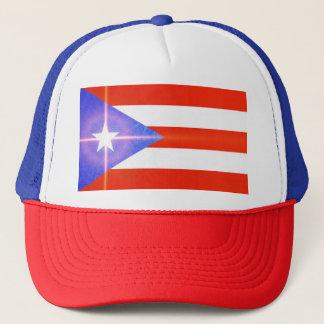 Stern-Flaggen-Aufkleber-Kappe Puertos Rico Truckerkappe
