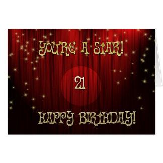 Stern-Geburtstag 21 Karten