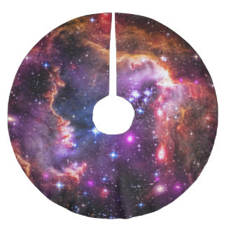 Stern-gefüllte kleine Magellanic Polyester Weihnachtsbaumdecke