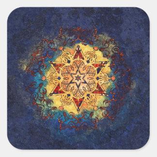 Stern-Glanz-Gold und blaue Aufkleber