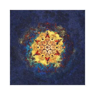 Stern-Glanz im Gold und im Blau Leinwanddruck