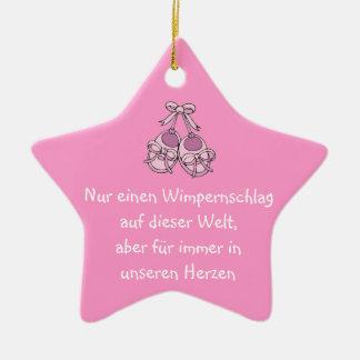 Stern Hängeornament als Erinnerung Keramik Stern-Ornament