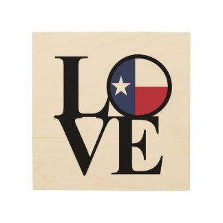 Stern-Holz-Kunst LIEBE Texas einzige Holzleinwand