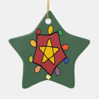Stern in den Lichtern Keramik Ornament