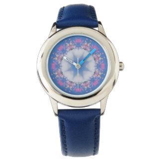 Stern in der Wolken-Mandala-Entwurfs-Uhr Uhr