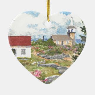 Stern-Insel-Raum-Ansicht eine Ansicht an der Insel Keramik Herz-Ornament
