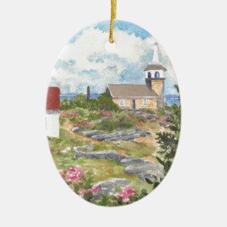 Stern-Insel-Raum-Ansicht eine Ansicht an der Insel Ovales Keramik Ornament