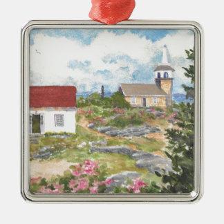 Stern-Insel-Raum-Ansicht eine Ansicht an der Insel Quadratisches Silberfarbenes Ornament