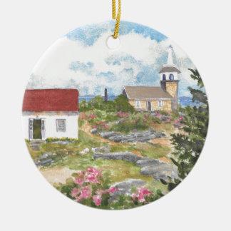 Stern-Insel-Raum-Ansicht eine Ansicht an der Insel Rundes Keramik Ornament