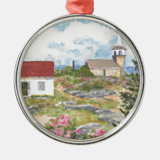Stern-Insel-Raum-Ansicht eine Ansicht an der Insel Silbernes Ornament
