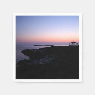 Stern-Insel-Sonnenuntergang Serviette