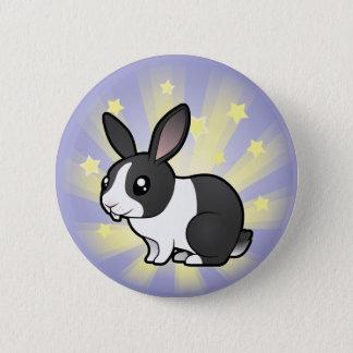 Stern-Kaninchen (glattes Haar des uppy Ohrs) Runder Button 5,7 Cm