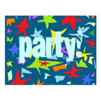 Stern-Kindergeburtstag-Party Einladung Postkarte
