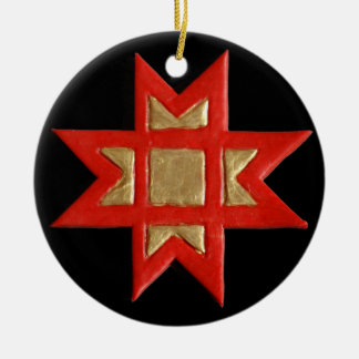 Stern-Kreuz oder Ausekla Zvaigzne Verzierung Keramik Ornament