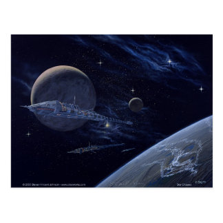 Stern-Kreuzer Postkarte