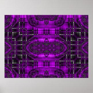 Stern-Labyrinth-futuristische Fraktale Poster
