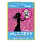 Stern-Mädchen-Erfolg Karte