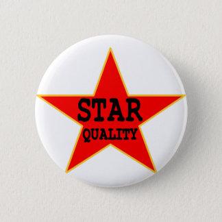 Stern-Qualität Runder Button 5,7 Cm