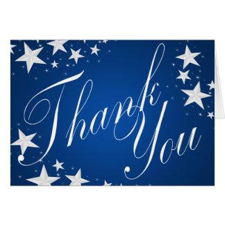 Stern-Saphir-Blau dankt Ihnen Karte