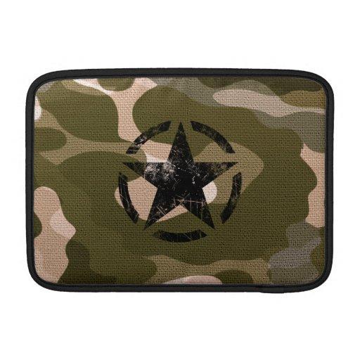 Stern-Schablone-Vintages Jeep-Abziehbild auf MacBook Sleeves