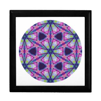 Stern-Schneeflocke-Mandala kaleidoskopisches mit Schmuckschachtel