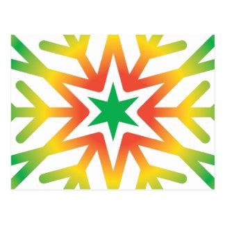 Stern-Schneeflocke Postkarte