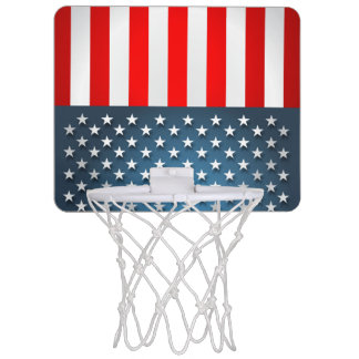 Stern-Spangled Art Mini Basketball Ring
