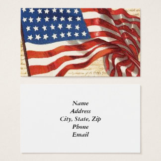 Stern Spangled Fahne Visitenkarte