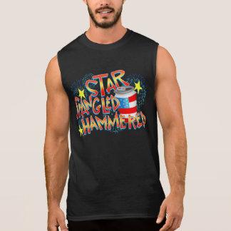Stern Spangled gehämmert Juli 4. Ärmelloses Shirt