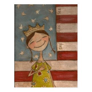 Stern-Spangled Prinzessin - Postkarte