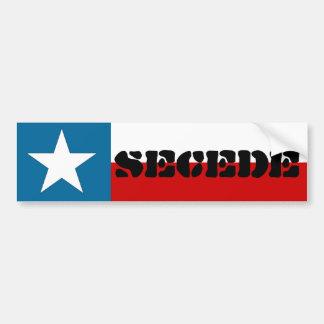 Stern-Staats-Flagge Texas Secede einzige Autoaufkleber