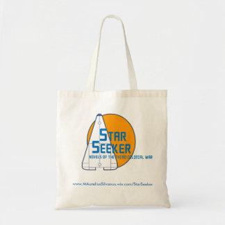 Stern-Sucher-Logo-Tasche - orange Planet - Tragetasche
