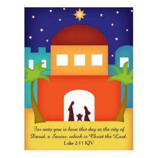 Stern über Bethlehem-WeihnachtsGeburt Christi Postkarte