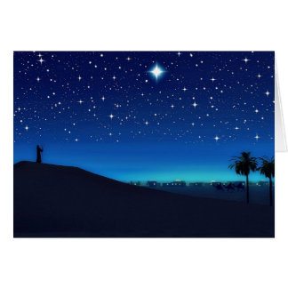 Stern über Bethlehem-Weihnachtskarte Grußkarte
