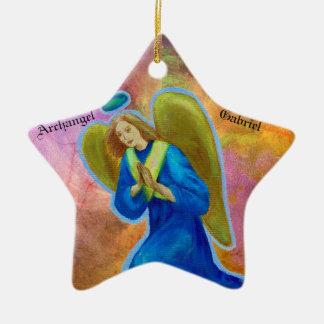 Stern-Verzierung: Erzengel Gabriel Keramik Ornament