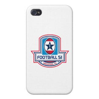 Stern-Wappen Houstons amerikanischen Fußball-51 iPhone 4/4S Hülle
