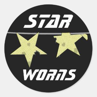Stern Worns Spaß Aufkleber