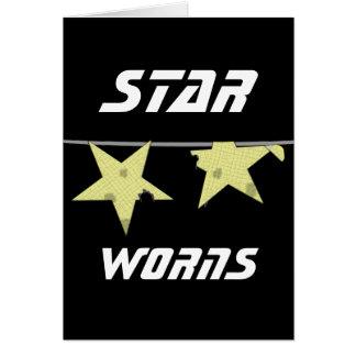 Stern Worns Spaß Grußkarte