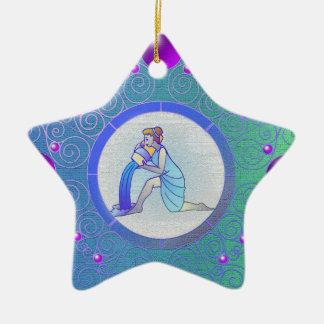 Stern-Zeichen-Verzierungs-Wassermann Keramik Ornament