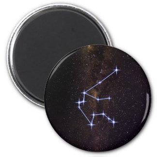 Stern-Zeichen-Wassermann Runder Magnet 5,1 Cm