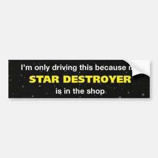 Stern-Zerstörer-Autoaufkleber Autoaufkleber
