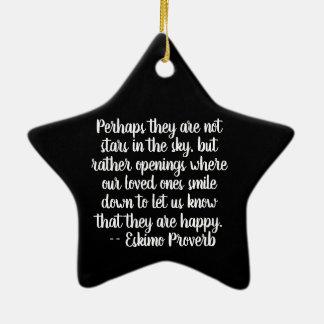 Stern zum Gedenken an Verzierung Keramik Ornament