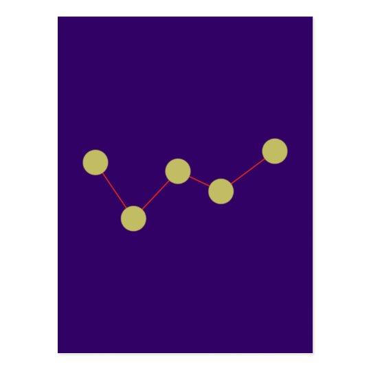 Sternbild Kassiopeia constellation Postkarte