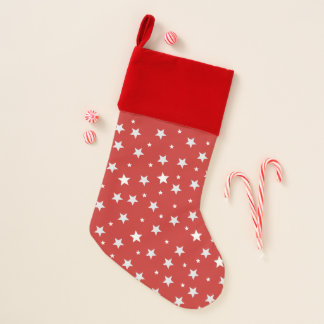 Sterne an den roten Feiertagen Weihnachtsstrumpf