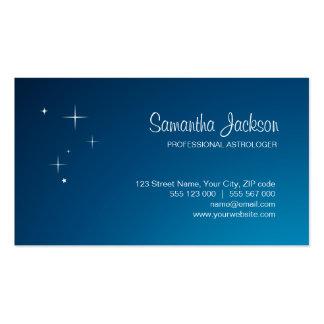 Sterne auf blauer Visitenkarte