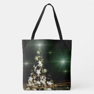 Sterne auf Weihnachtsbaum-Himmels-ganz vorbei - Tasche