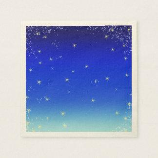 Sterne im Blau Serviette